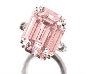 10 carat pink diamond engagement ring