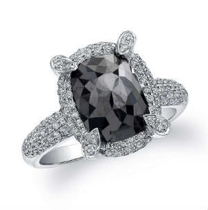 12carat black diamond ring