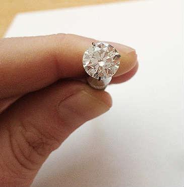 2 carat diamond real size