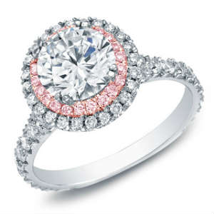 2 carat engagement rings with pink diamonds are beautiful
