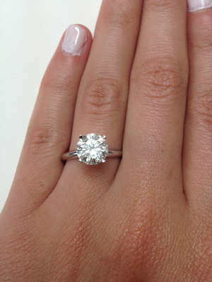 2,5 carat diamond ring