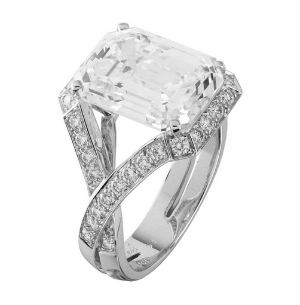 6 carat emerald cut engagement ring - Emerald Cut Wedding Rings