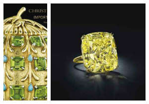 75 carat yellow diamond ring sold