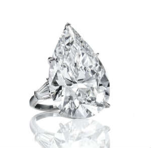 9 carat pear shaped diamond, D color flawless