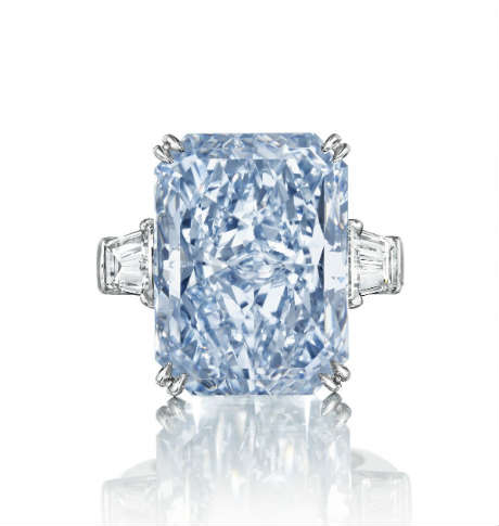 The cullinan-dream largest fancy intense blue diamond