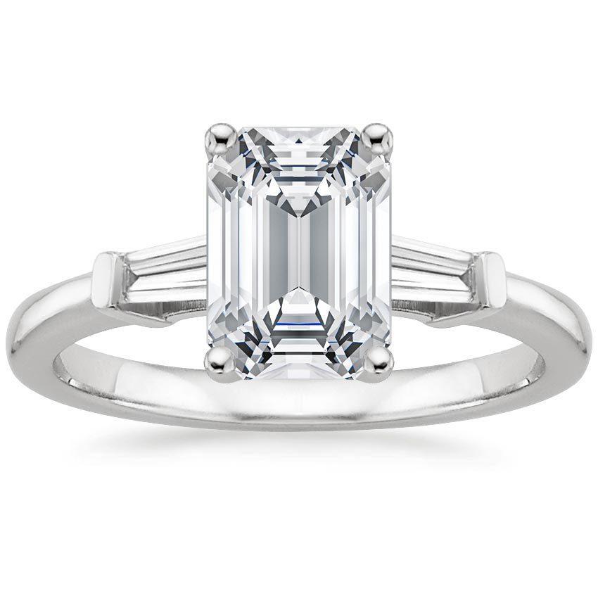 Emerald Cut Diamond Baguette Ring