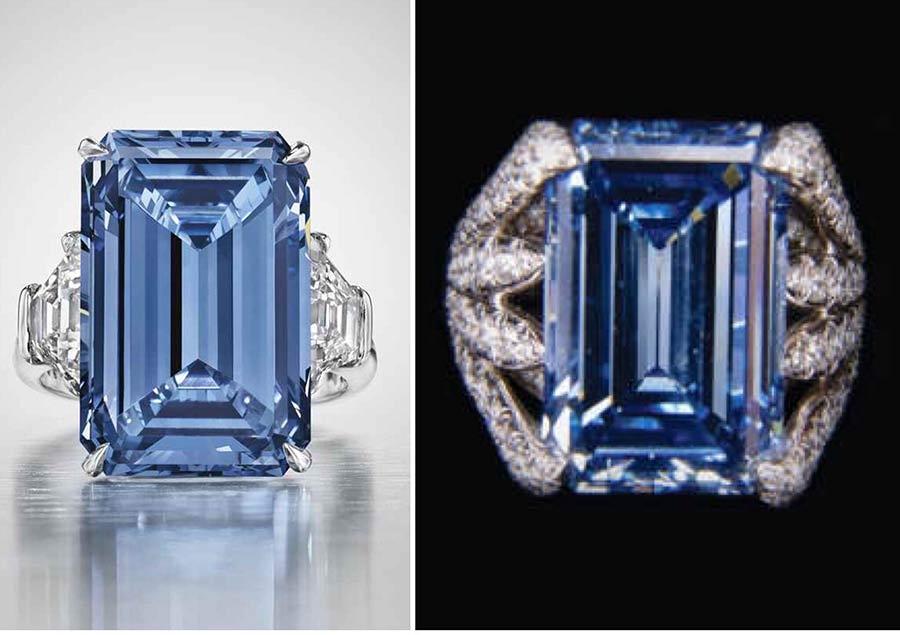 Blue Diamond Oppenheimer Ring auctioned