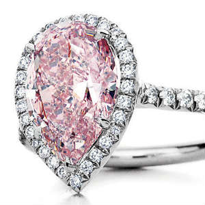 Colored diamond prices for pink diamond engagement ring