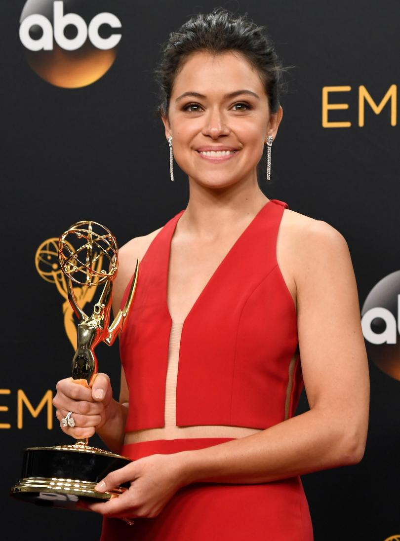 Lead actress Tatiana Maslany Diamond Jewelry