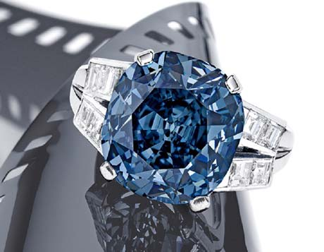 Shirley Temple Blue Saphire Diamond Ring