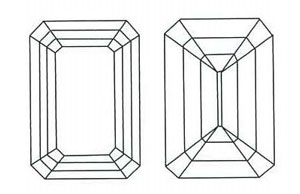 Emerald Cut Diamond Sketch
