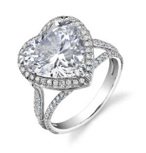 Heart shaped engagement rings diamond registry heart shaped diamond ring junglespirit Gallery