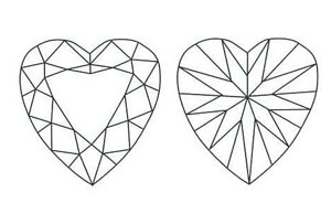 Heart Shaped Diamond Sketch