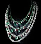 Diamond jewelry Secret Garden Necklace filled with candy colored diamonds baseworld 2015