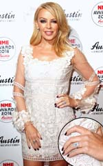 Kylie Minogue diamond engagement ring