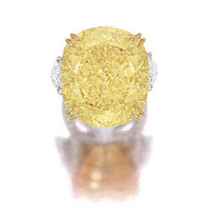 Lady Luck Impressive 77.77 carat yellow vivid diamond
