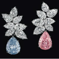 Loose diamond and jewelry earings at auction