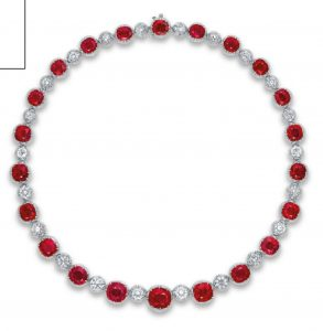 EXCLUSIVE RUBY AND DIAMOND NECKLACE