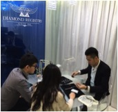 Client meeting at the hong kong diamond jewelry showroom