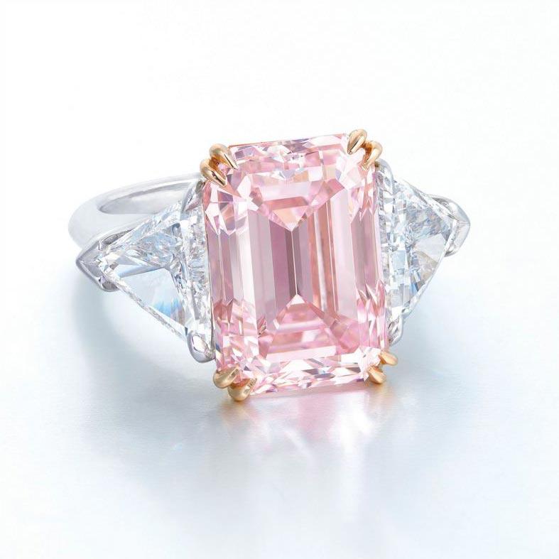 Pink Diamond Wedding Rings For Sale