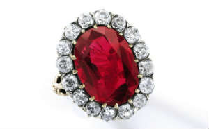 The Queen Maria-Jose Ruby diamond ring