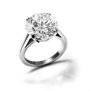 Round diamond engagement ring D Flawless