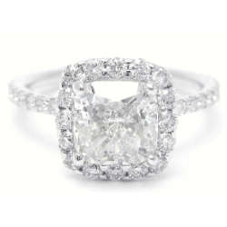 Trending cushion cut engagement ring for 2015