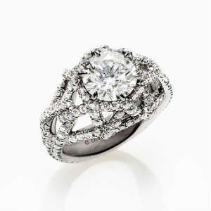 Unique Black Diamond Engagement Ring