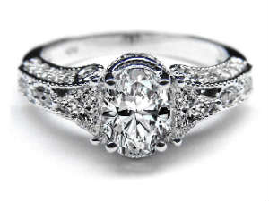 vintage engagement rings - One Of A Kind Wedding Rings