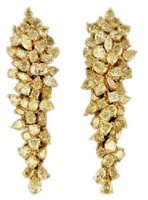 Yellow diamond earrings firework
