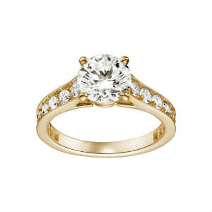 Beautiful yellow diamond ring Yellow gold ...