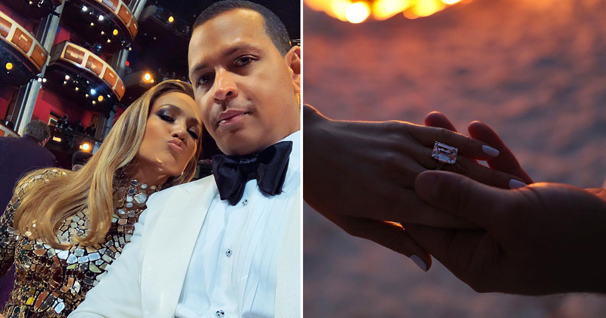 An engagement ring from A-Rod