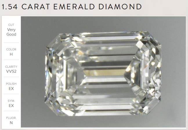emerald cut diamond grade