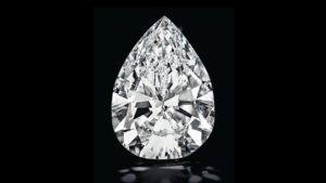 A flawless pear shape diamond
