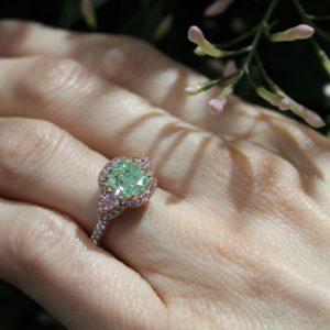 Green-diamond-set-in-ring