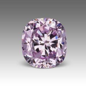 Natural colored purple diamond