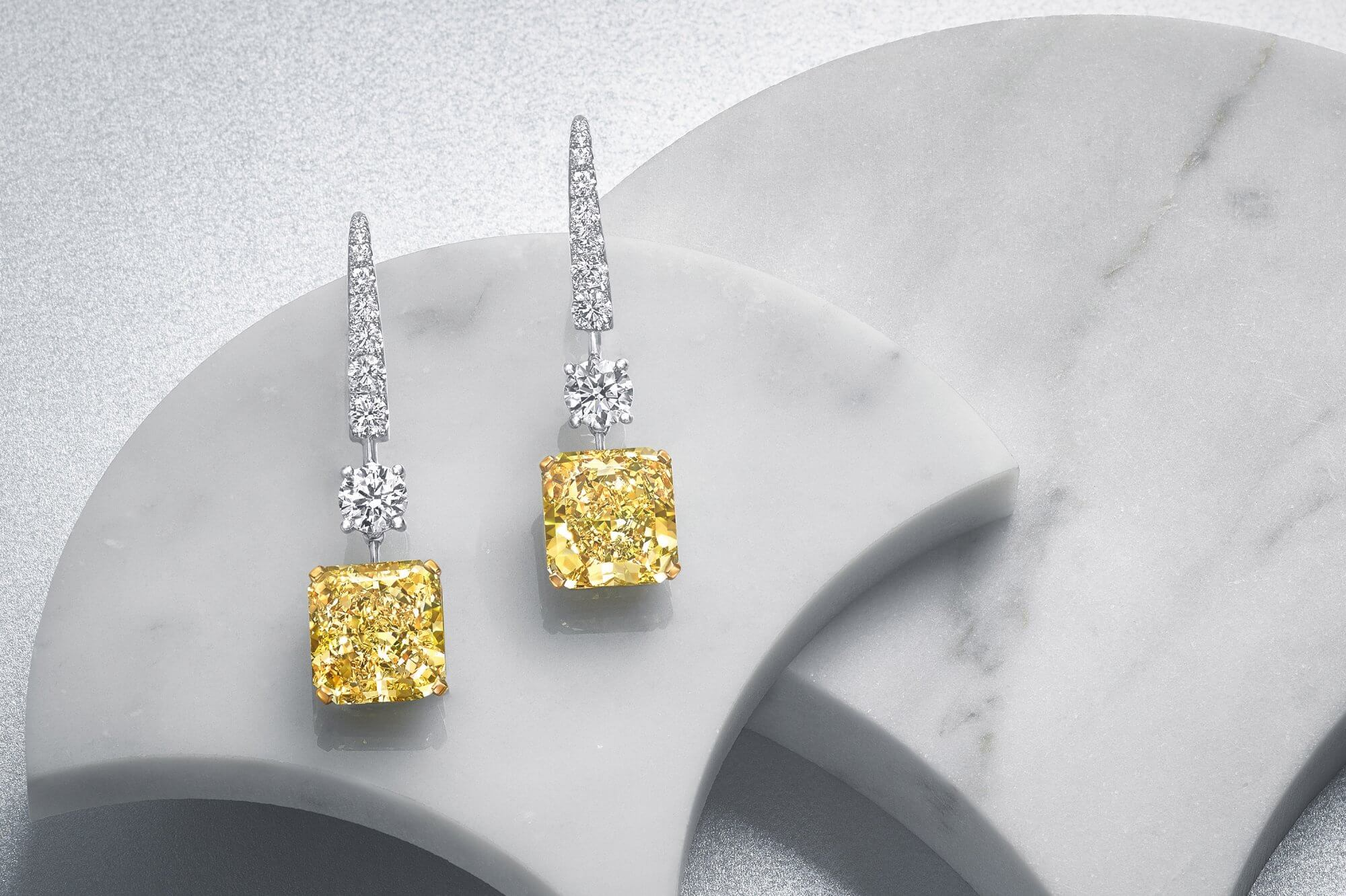 for judith l canary men earrings yellow crystal ripka diamond