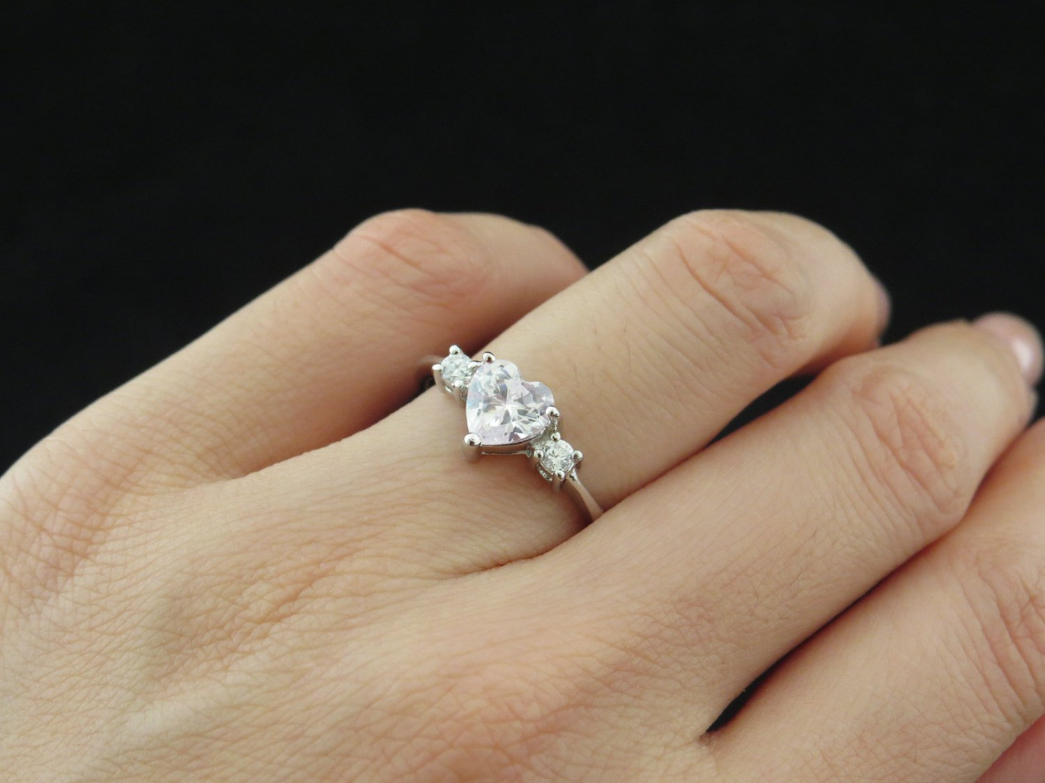 square simulant rings wedding princess promise carat ring engagement pin made diamond man