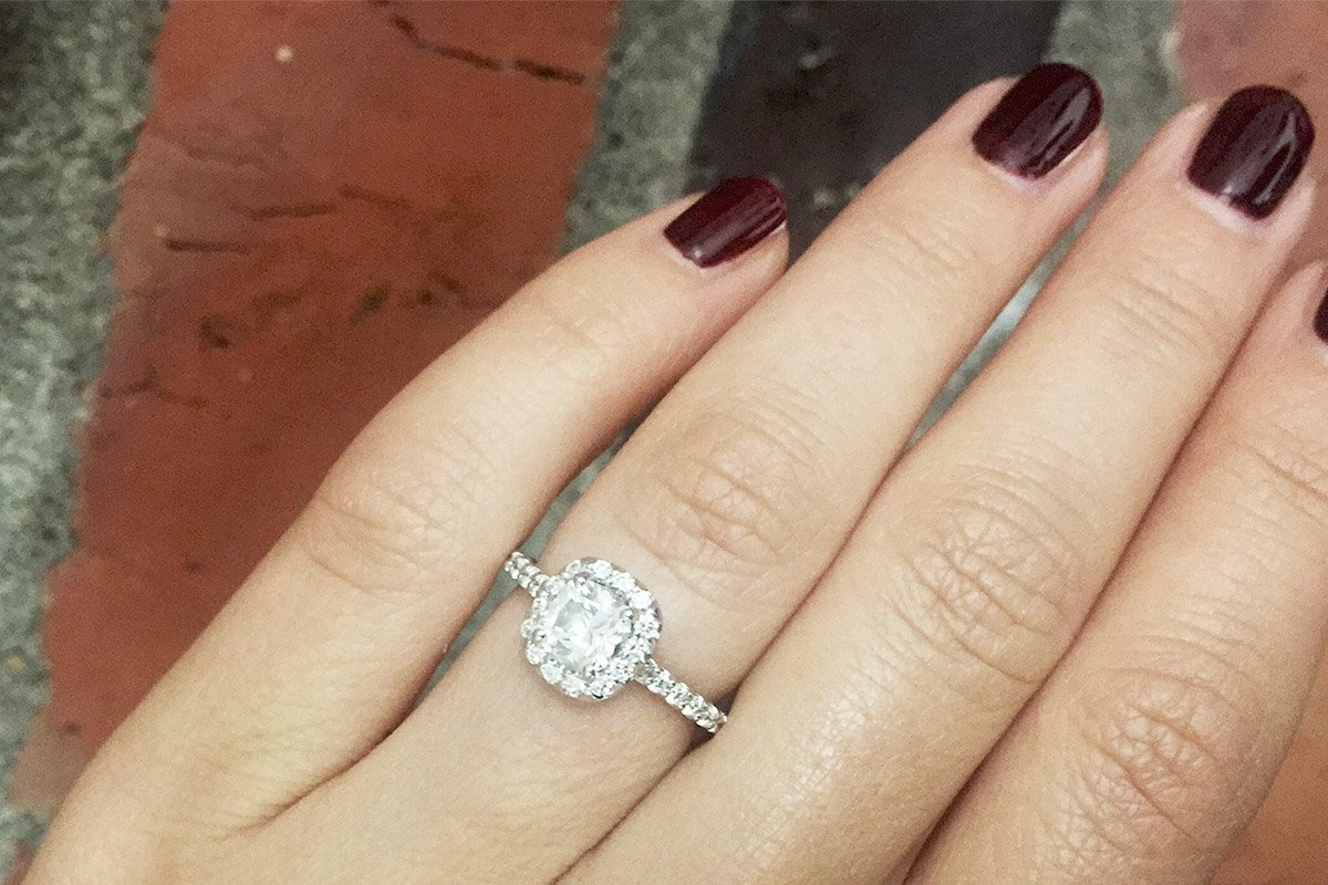 cut one carat ring diamond on hand products marquise engagement artemer