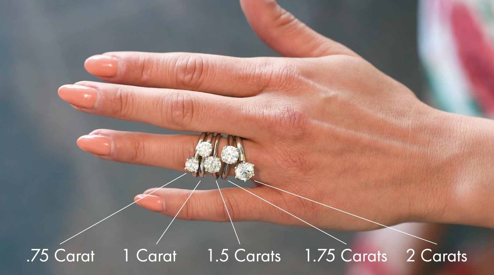 a pin many you your reference and actual engagement in how want carats hand diamond but life need size are carat to decide trying on ring real