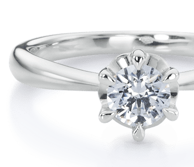 Diamond solitaire with illusion prong