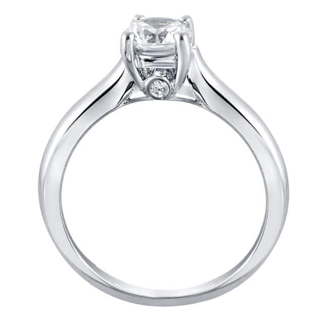 Diamond ring with bridge accents