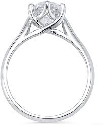 diamond ring with trellis prong