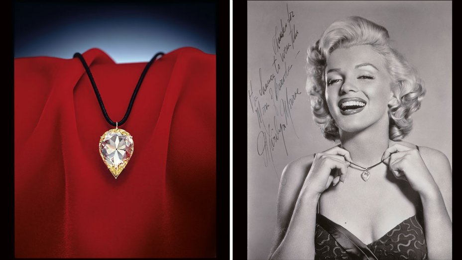 marilyn monroe painting and necklace